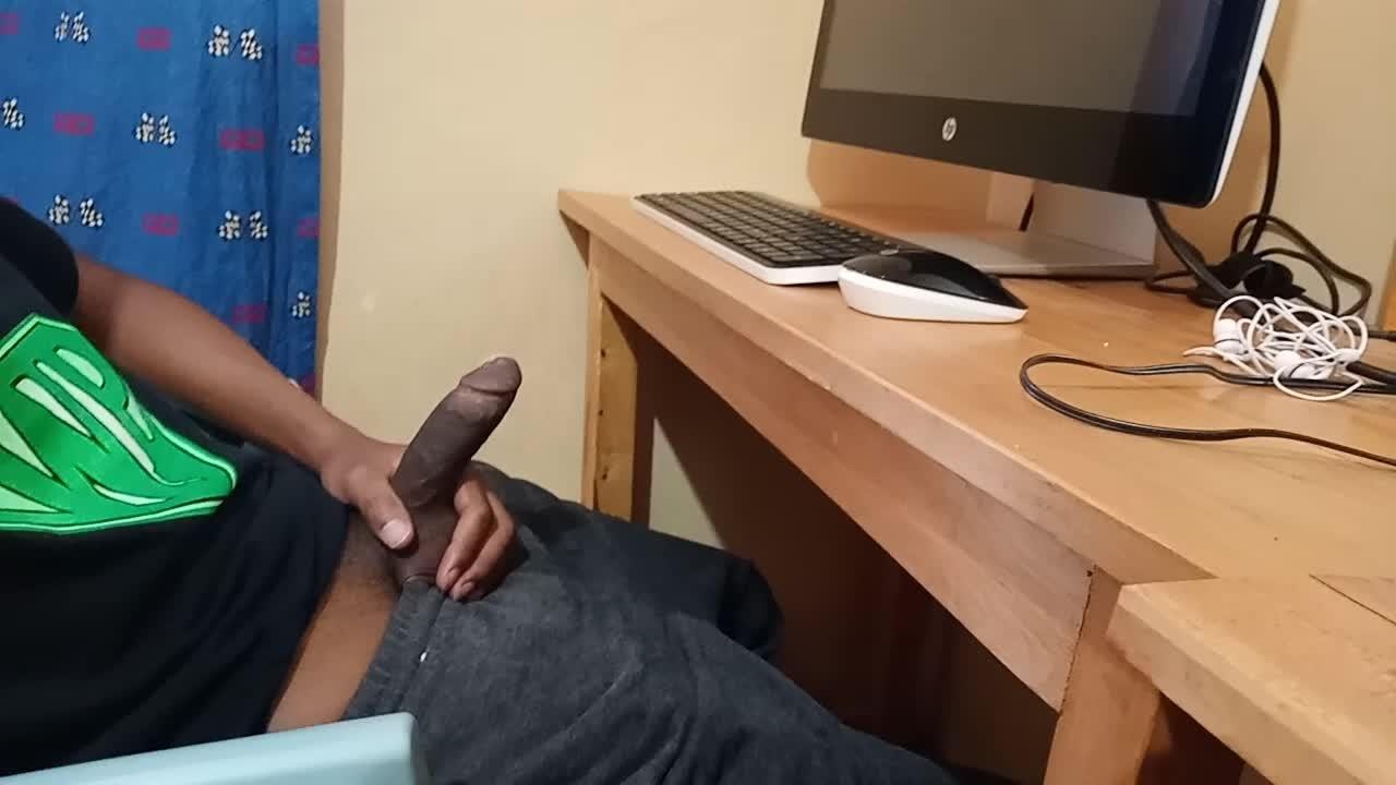 Jerking Off My Huge Cock