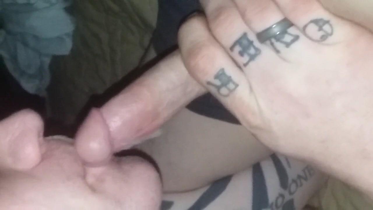 Sucking Cock Riding Dildo