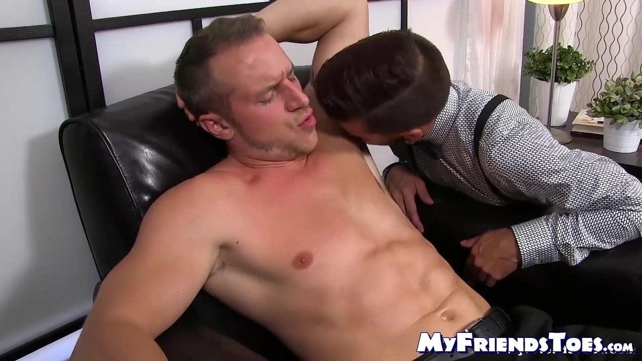 Armpit Porn businessman dominates foot lover and enjoys armpit smelling